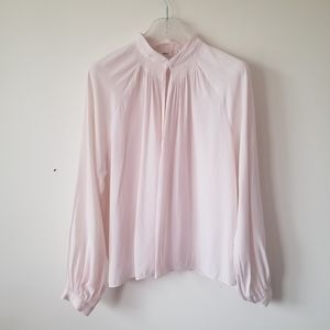 Wilfred blouse pale pink silky sz Medium